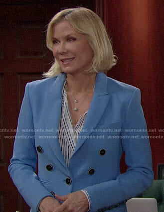 Brooke's blue blazer on The Bold and the Beautiful