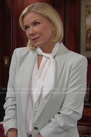 Brooke's light green blazer on The Bold and the Beautiful