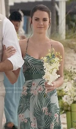 Callie's floral maxi dress on The Fosters