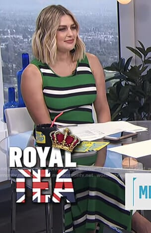 Carissa's green striped dress on E! News Daily Pop