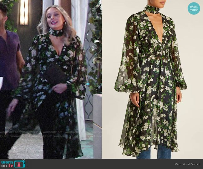 Caroline Constas Syris Dress worn by Abby Newman (Melissa Ordway) on The Young & the Restless