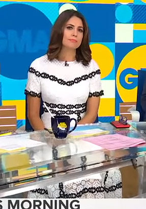 Cecilia's white lace midi dress on Good Morning America