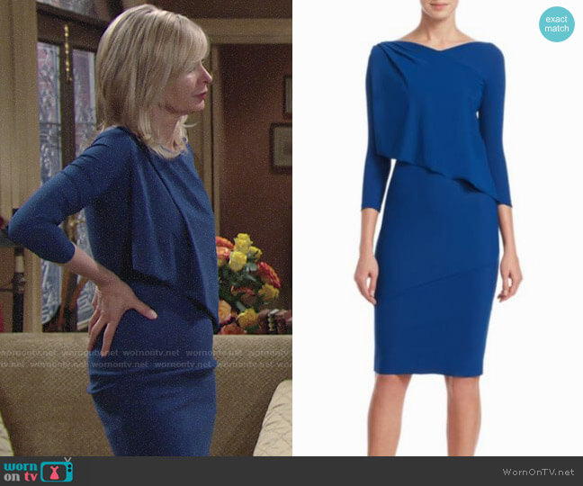 Chiara Boni La Petite Robe Ruffled Bodycon Dress worn by Eileen Davidson on The Young & the Restless