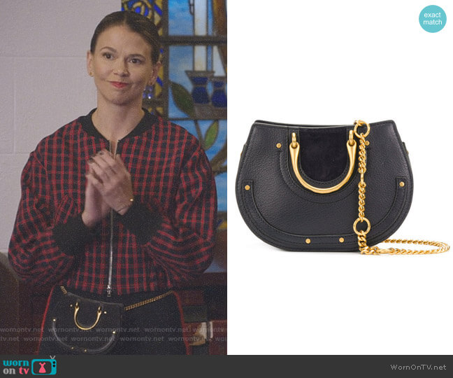 Nile Small Bracelet Bag by Chloe worn by Sutton Foster on Younger