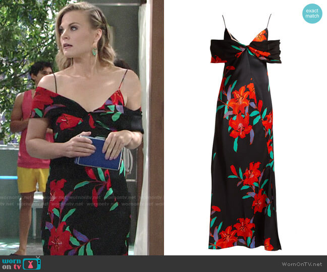 Diane von Furstenberg Argos Print Dress worn by Phyllis Newman (Gina Tognoni) on The Young & the Restless