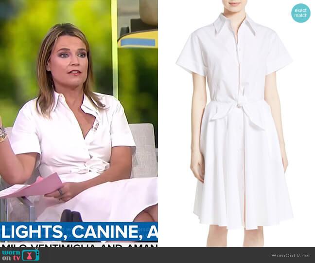 Cotton Shirtdress by Diane von Furstenberg worn by Savannah Guthrie  on Today