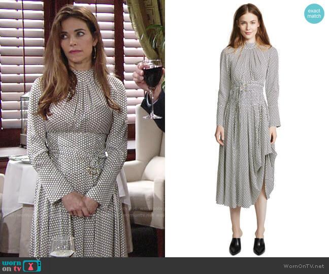 Diane von Furstenberg High Neck Halter Dress worn by Amelia Heinle on The Young & the Restless