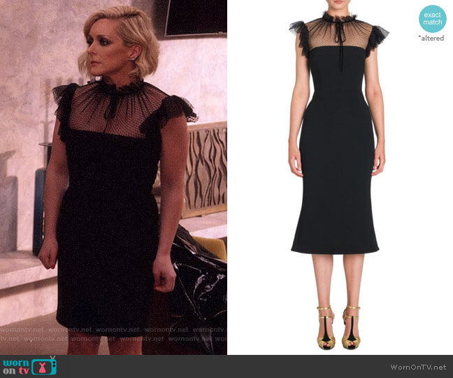 Tulle Accent Cady Dress by Dolce & Gabbana worn by Jane Krakowski on Unbreakable Kimmy Schmidt