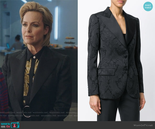 Jacquard Blazer by Dolce & Gabbana worn by Melora Hardin on The Bold Type