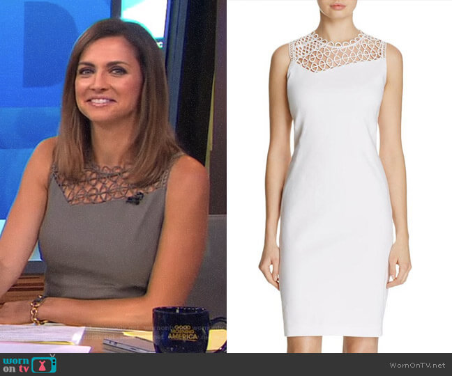 'Tina' Dress by Elie Tahari worn by Paula Faris on Good Morning America