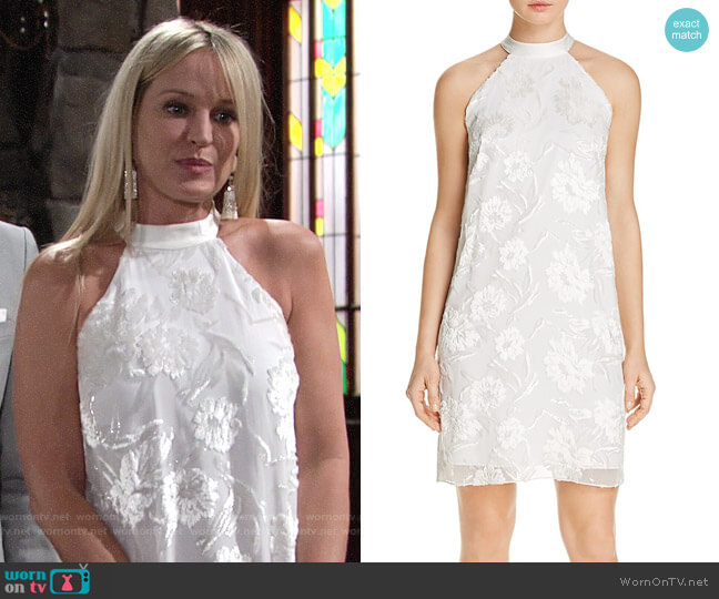 Elie Tahari Anika Dress worn by Sharon Collins (Sharon Case) on The Young & the Restless