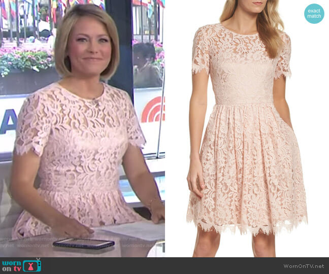 Lace Fit & Flare Dress by Eliza J worn by Dylan Dreyer on Today