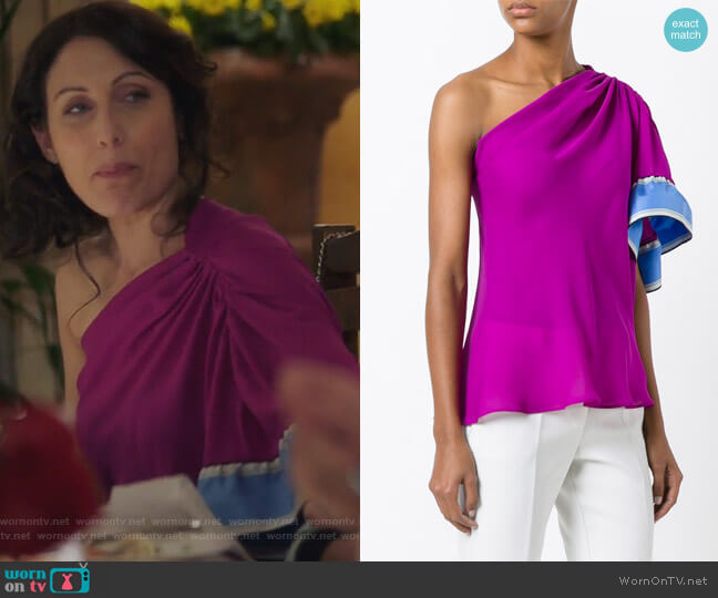 One-Shoulder Blouse by Emilio Pucci worn by Lisa Edelstein on GG2D