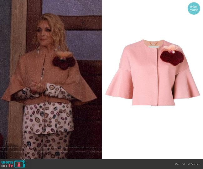 Fur Applique Jacket by Fendi worn by Jane Krakowski on Unbreakable Kimmy Schmidt
