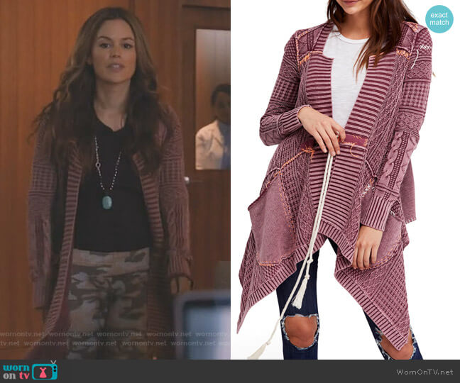 All Washed Out Cardigan by Free People worn by Samantha Swift (Rachel Bilson) on Take Two