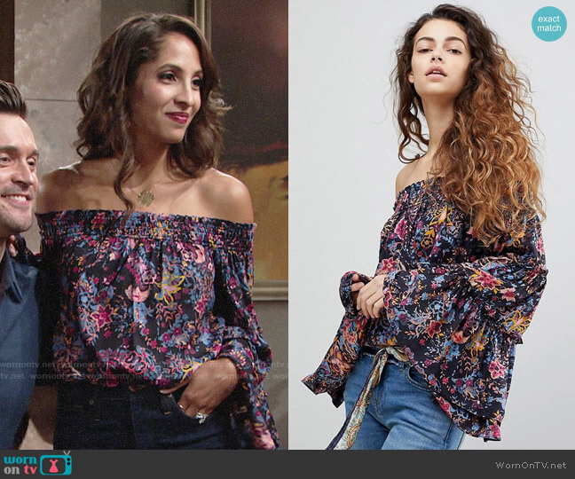 Free People Free Spirit Top worn by Christel Khalil on The Young & the Restless