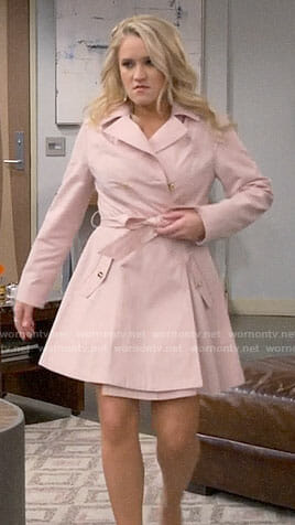Gabi's pink coat on Young and Hungry