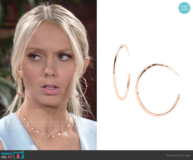 Gorjana Arc Hoop Earrings worn by Abby Newman (Melissa Ordway) on The Young & the Restless