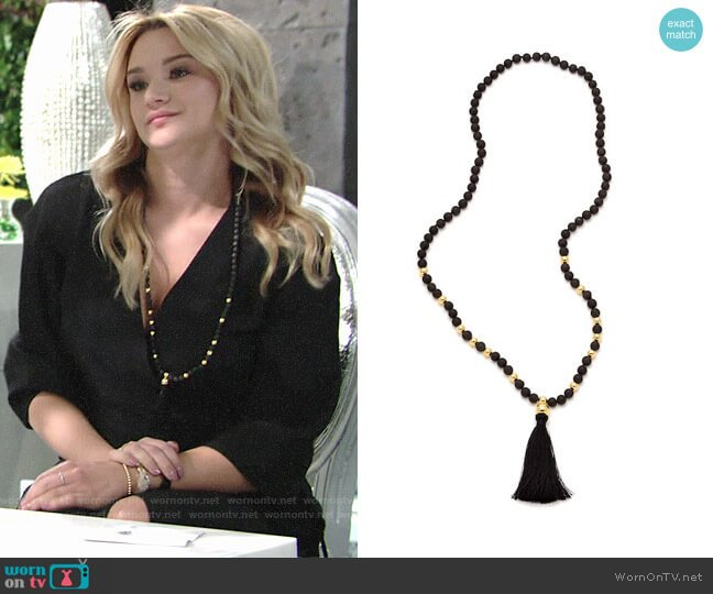Gorjana Hannah Necklace worn by Summer Newman (Hunter King) on The Young & the Restless