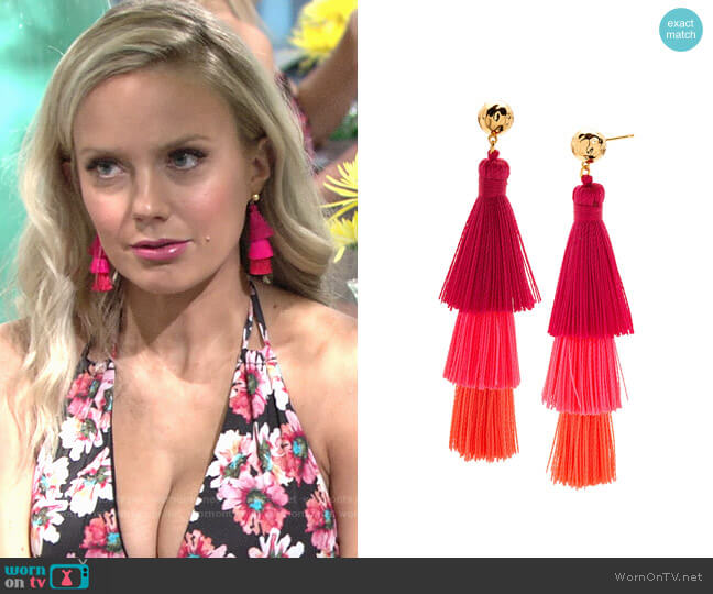 Gorjana Havana Tassel Earrings worn by Melissa Ordway on The Young & the Restless