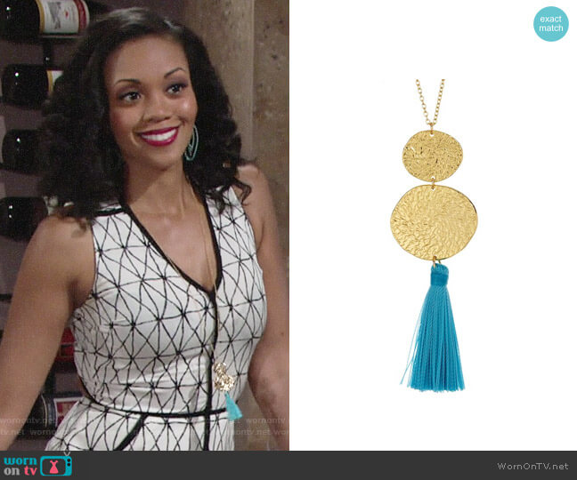 Gorjana Phoenix Necklace worn by Mishael Morgan on The Young & the Restless
