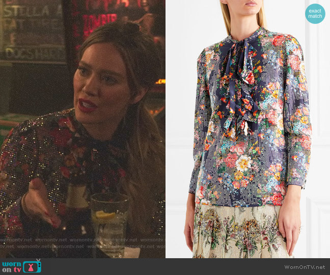 'Josephine' Shirt by Gucci worn by Hilary Duff on Younger
