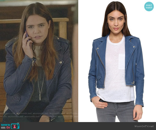 'Ashville' Leather Jacket by IRO worn by Grace Russell (Bailee Madison) on Good Witch