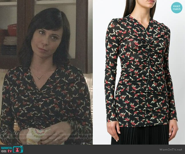 Domino Floral Print Top by Isabel Marant worn by Cassandra Nightingale (Catherine Bell) on Good Witch