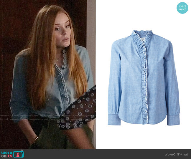 Etoile Isabel Marant Awendy Top worn by Abigail Cowen on The Fosters