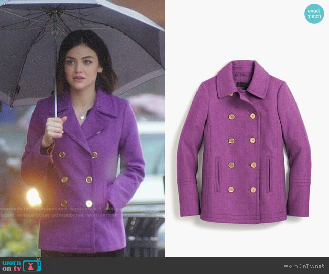 J. Crew Andover Peacoat worn by Stella Abbott (Lucy Hale) on Life Sentence
