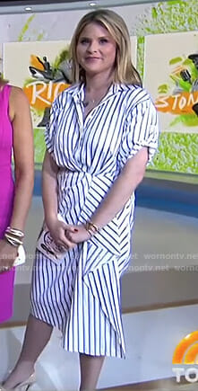 Jenna's white striped shirtdress on Today