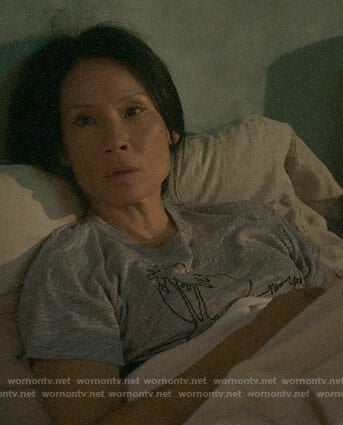 Joan's palm tree tee on Elementary