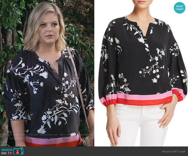 Joie Eilga Top worn by Maxie Jones (Kirsten Storms) on General Hospital