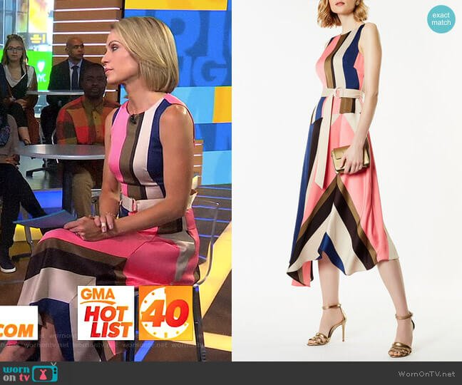 Abstract Print Dress by Karen Millen worn by Amy Robach  on Good Morning America