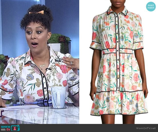 Blossom Shirt Dress by Kate Spade worn by Tamera Mowry on The Real