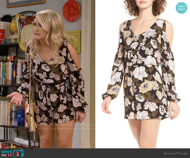 Leith Floral Print Romper worn by Emily Osment on Young & Hungry