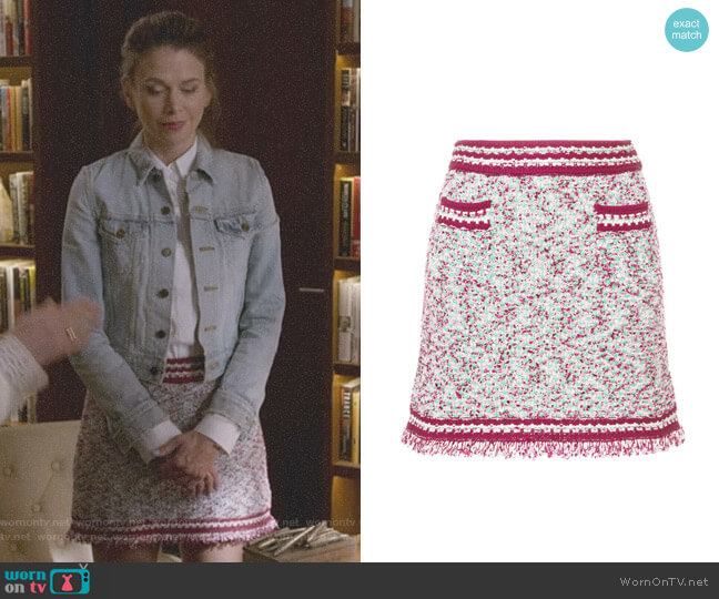 Patterned Contrast Trim Mini Skirt by M Missoni worn by Liza Miller (Sutton Foster) on Younger