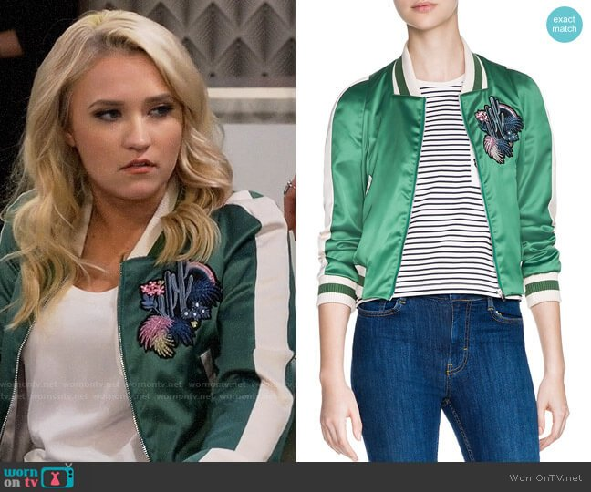 Maje Bacary Jacket worn by Gabi Diamond (Emily Osment) on Young & Hungry