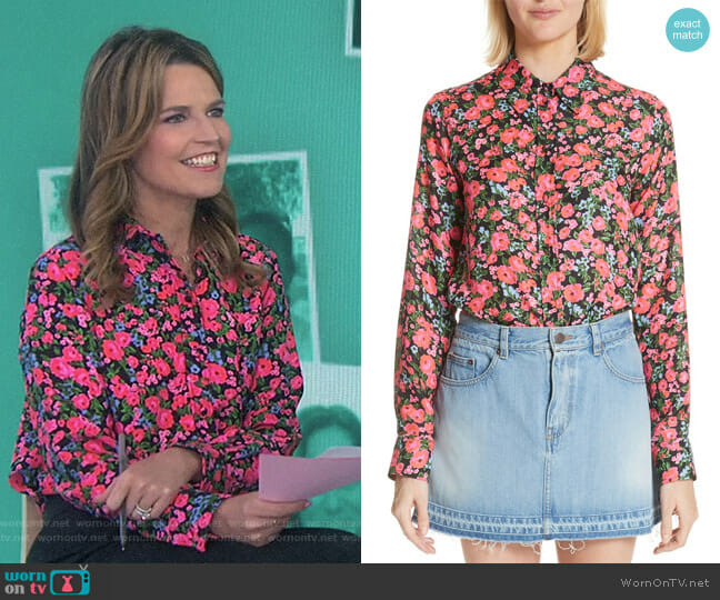 Floral Print Shirt by Marc Jacobs worn by Savannah Guthrie on Today