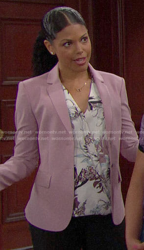 Maya's pink blazer on The Bold and the Beautiful