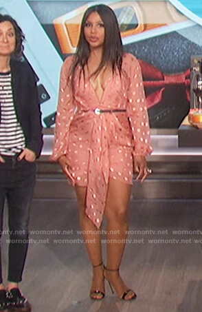 Toni Braxton's polka dot mini dress on The Talk