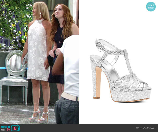MICHAEL Michael Kors Catalina Sandals worn by Sharon Collins (Sharon Case) on The Young & the Restless