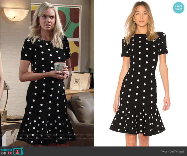Milly Polka Dot Mermaid Dress worn by Abby Newman (Melissa Ordway) on The Young & the Restless