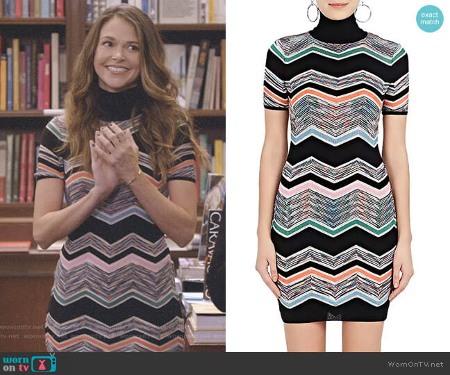 Zigzag-Knit Wool-Blend Dress by Missoni worn by Liza Miller (Sutton Foster) on Younger