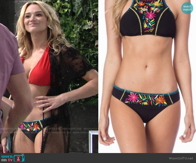 Nanette Lepore Isla Marietas Charmer Hipster Bikini worn by Hunter King on The Young & the Restless