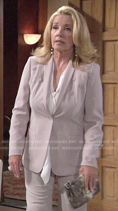 Nikki's floral applique blazer on The Young and the Restless