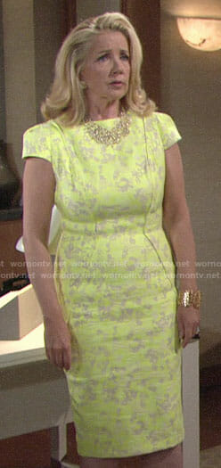 Nikki's yellow floral dress on The Young and the Restless