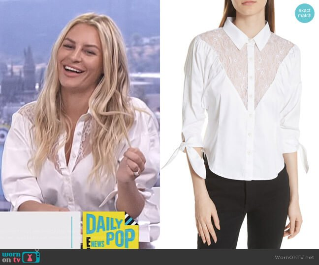 Lace Yoke Shirt by Opening Ceremony worn by Morgan Stewart  on E! News