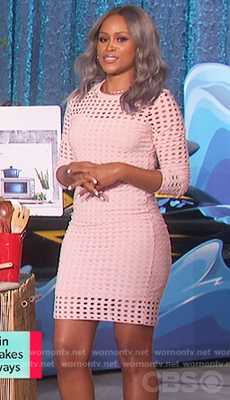 Eve's pink eyelet dress on The Talk