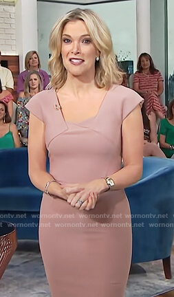 Megyn's pink square neck sheath dress on Megyn Kelly Today